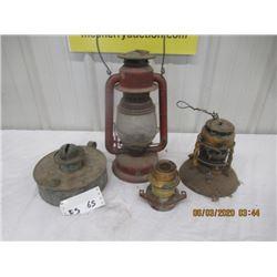 4 Items - Beacon Barn Lantern, Dietz Lantern, Various Lanterns - Vintage