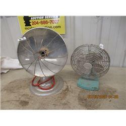 2 Items - Opal Elec Heater & Vintage Fan