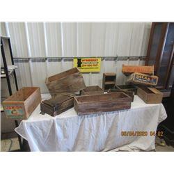 Various Vintage Wood Crates