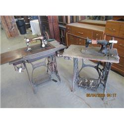 2 Treadle Singer Sewing Machine- Wood is Rough, Cast is Good- Vintage