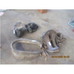 Military Saddle, Horse Collar, Leather Saddle Bag Vintage