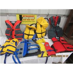 8 Items - Life Jackets (Good Condition)- Adult & Children's Sizes
