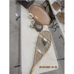 One Snowshoe, Crokinole Board, Back Catcher Glove