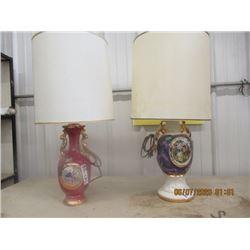 2 Victorian Style Elec Lamps - Vintage