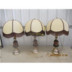3 Matching Table Top Elec Lamps