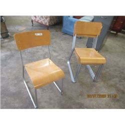 4 Stacking Chairs - Modern