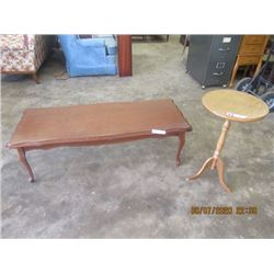 Coffee Table & Pedestal Stand- Modern