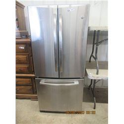 """GE Stainless Steel SxS  Fridge w Bottom Freezer 66"""" H x 30"""" W x 32"""" D-Modern"""