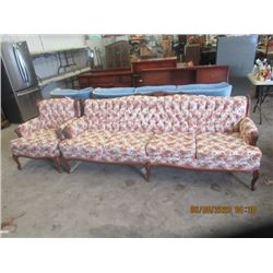 Provincial Couch & Chair - Vintage