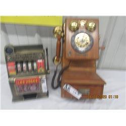 Nevada Slot Machine & Vintage Style Telephone