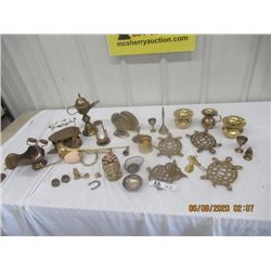 30 Plus Brass Ornaments & Misc