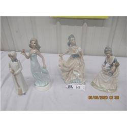 "4 Tengra Figurines 10"" to 12"" Tall"