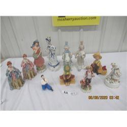 11 Various Figurines - China & Chalkware
