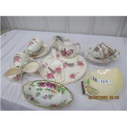 Over 25 Pcs- Various China, Cake Server, Tea Pot & Various