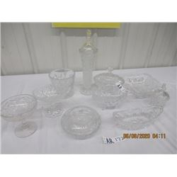 10 Pcs- Crystal - Vases- Dishes, Ice Bucket Covered Dishes & more