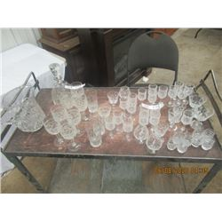 50 PCs Crystal - Pitcher, Decanter, Various Glasses & More