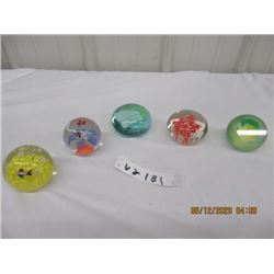 5 Morona Style Paper Weights- Vintage