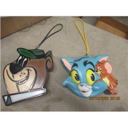 Tom & Jerry Kids Transistor Radio , Yogi Bear Transistor Radio, Hana Barbara Productions - Vintage