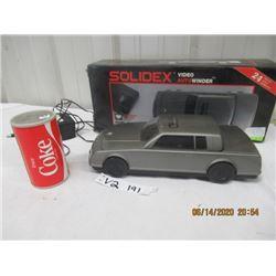 2 Pcs- Coca Cola Can Transistor Radio & Solidex Car Rewinder - Vintage