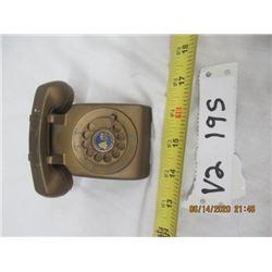 "Vintage Salesman Sampl Bell Rotary Telephone Metal   2"" x 2.5"" x 4.5"""
