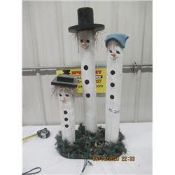 "Winter Wood Display - 36"" x 18"" x 12"""