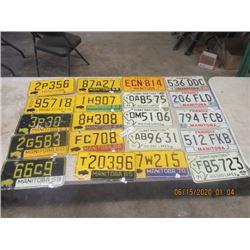 20 License Plates MB 1959- 1998 - Vintage & Not Too Old