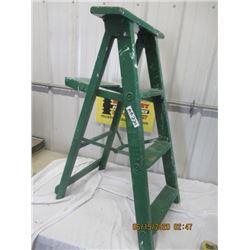"Painted Wooden Step Ladder  38"" H - Vintage"