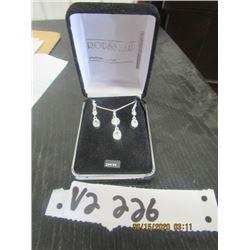 "Beautiful New ""Rousseau"" Sterling Silver Necklace & Earring Set"