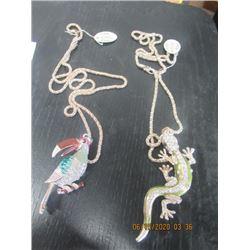 2 High Quality Fashion Necklaces 1) Parrot 1) Dago