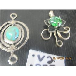 2 Hand Crafted  Large Pendants