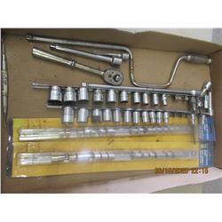 Sockets, Ratchets, Speed Bar, Autobody Hammer Fller Gauges, Flaring Tool, Gear Puller, Metal Tool Bo