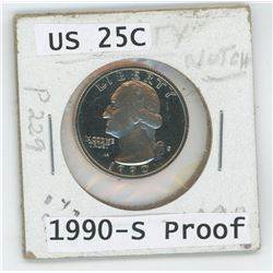 1990 US 25 Cent Coin