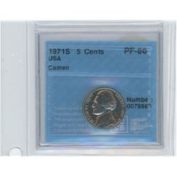 1971S USA 5 Cents Coin