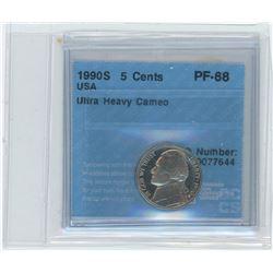 1980 USA 5 Cents Coin