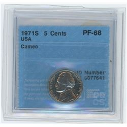1971S USA 5 Cent Coin