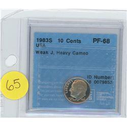 1983S USA 10 Cent Coin