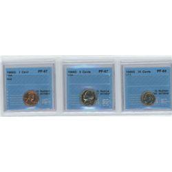3 CCCS, 1968-S USA 1 cent, 1968-S USA 5 cent, 1968-S USA 10 cents