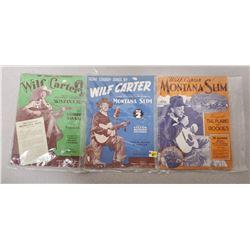 "4 Wilf Carter ""Montana Slim"" Music Books 1938"