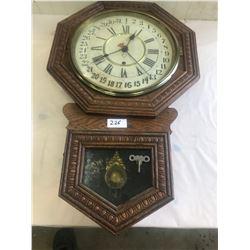 31 Day Clock - Oak Case - Pendulum and Key
