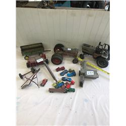 Lot of Farm Toys and Misc. Cars and Trucks