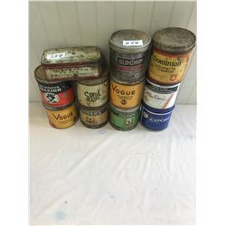 11 Assorted Tobacco Tins