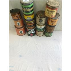 14 Assorted Tobacco Tins