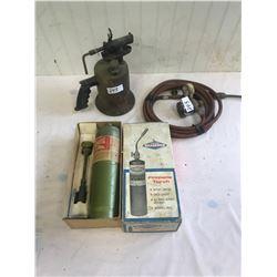 Vintage Brass Torch, Acetylene Toch and Propane Toch, Original Box
