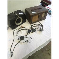 2 Vintage Radios - RLA and 2 Ear Receivers