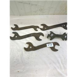 5 John Deere and Vanbrunt Wrenches - Stamped