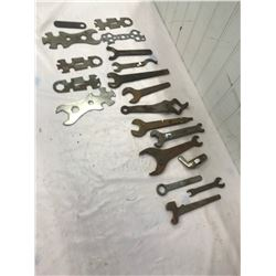 Lot of Cream Separator Stools and other Misc. Wrenches