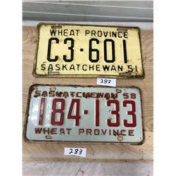 2 License - 1951 and 1958 Sask.