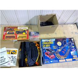 Lot of 4 Boxes of Train and Race Car
