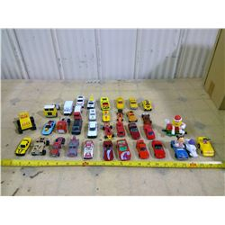 Box of 35 Toy Cars