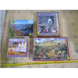 Lot of 4 Jigsaw Puzzles